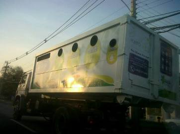 Camión de reciclaje en Chile