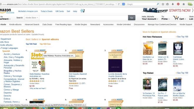 Ranking libros gratis Amazon Spanish